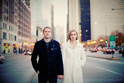 Downtown Chicago, Engagement photographer, Engagement Portrait, portrait location, Michigan Avenue