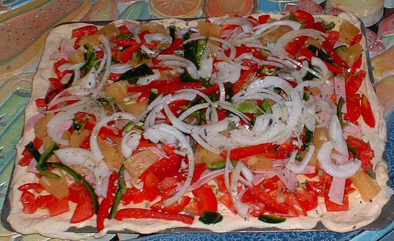 Pizza Hawaiana Cruda
