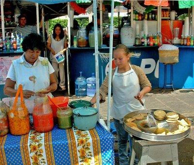 Taquitos de papas were our starter