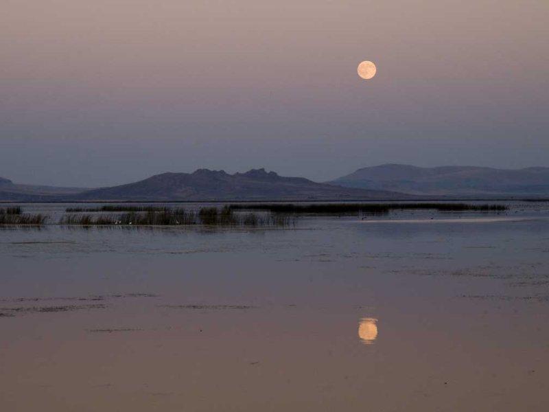<B>Evening Reflection</B> <BR><FONT SIZE=2>Tule Lake, California - September 2008</FONT>