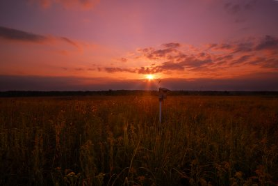 Sunset in the prairie