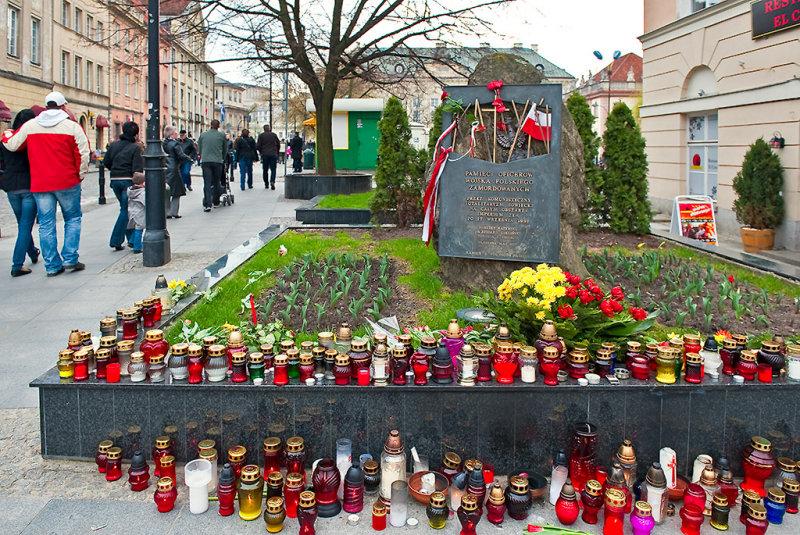 Memorial Stone Of Katyn Massacre