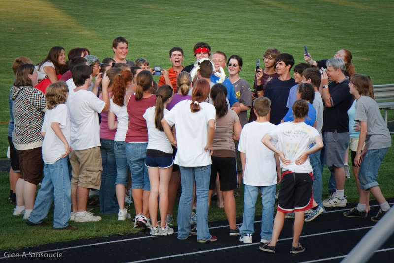 2008-2009 Marshwood High School Marching Band - Pie in the face