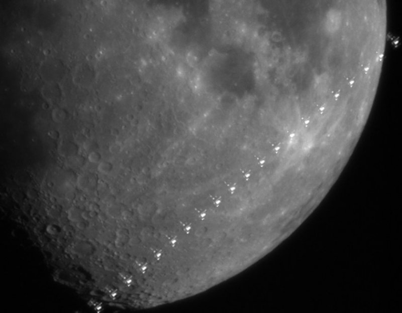 ISS Lunar Transit: April 15, 2008, 2:35 UT