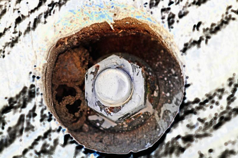 abstract closeup bolt in door 2 <p>_DSC2633
