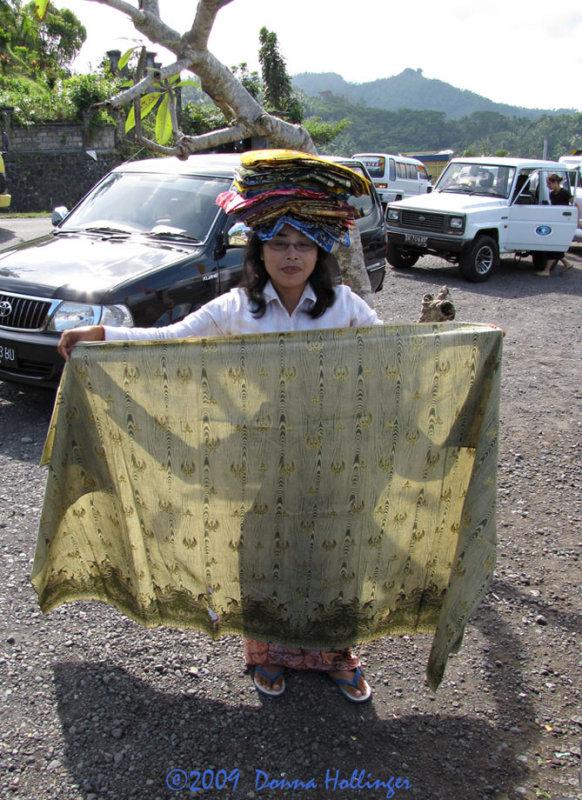 Woman Vending Sarongs