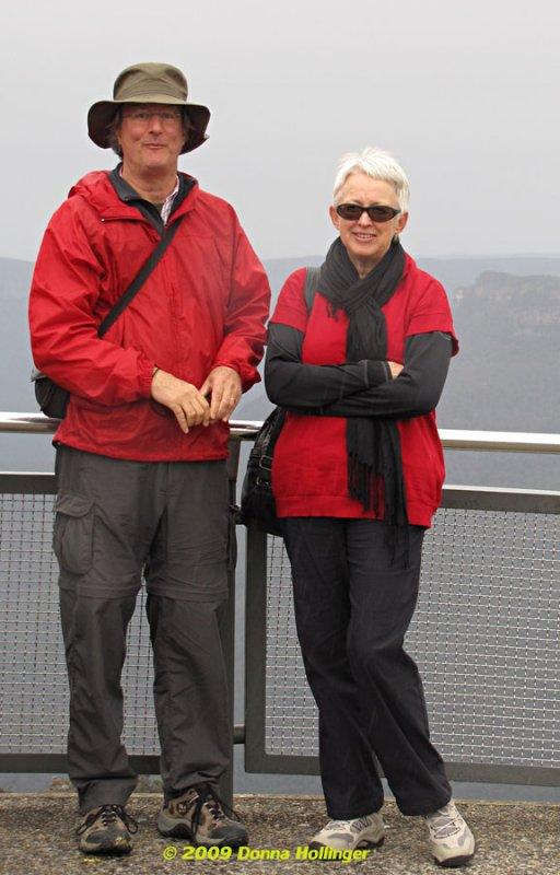 Peter and Jan at Three Sisters