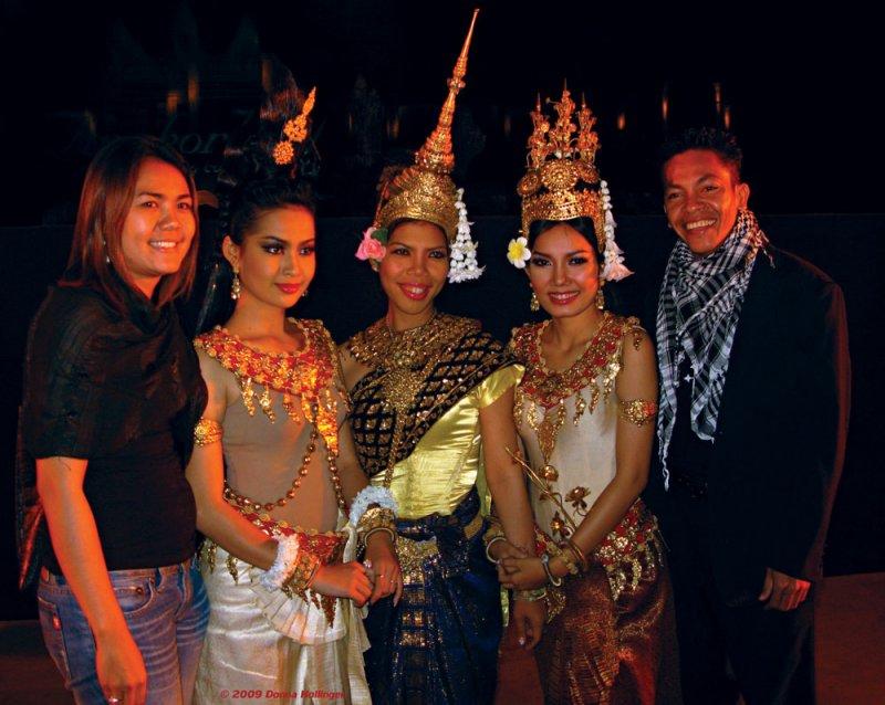 Sethisak and Apsara after Angkor Light Show