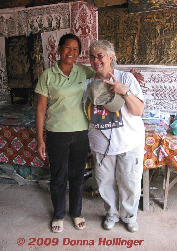 Carolyn and the Woman at Ta Prohm