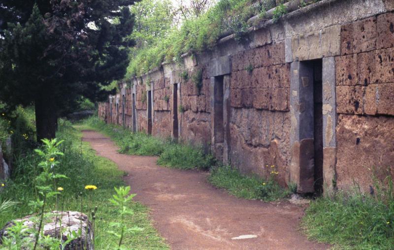 Series of tomb entrances