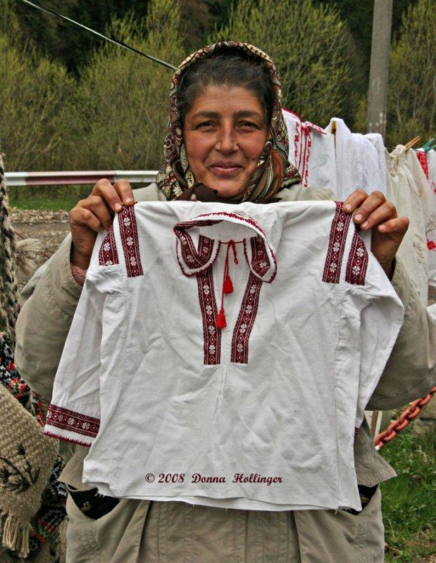 Street Vendor in Romania