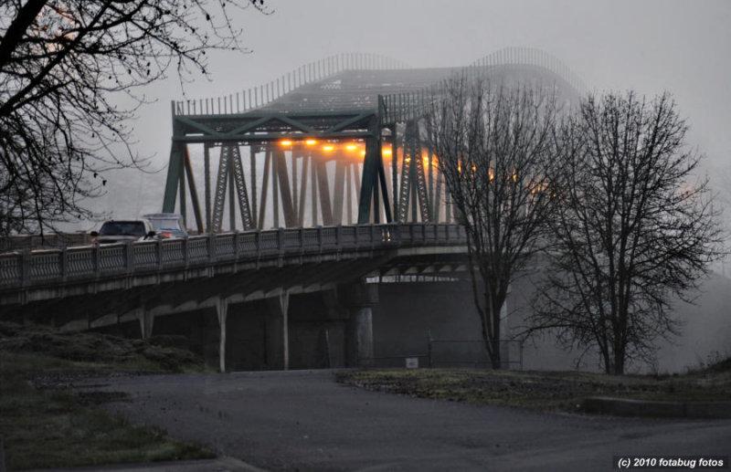Springfield Bridge In Fog