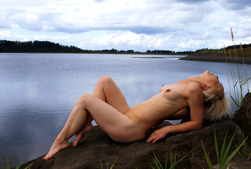 Lounging on rock 01