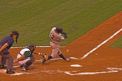 He swings