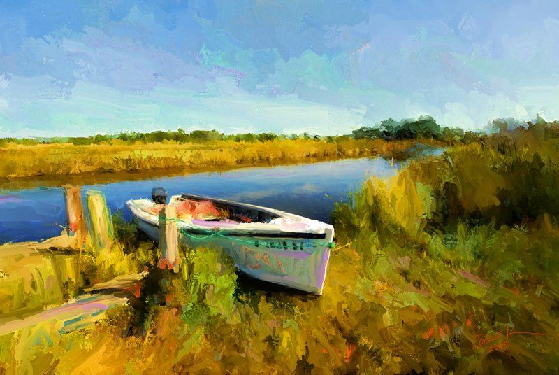 Boat On The Marsh