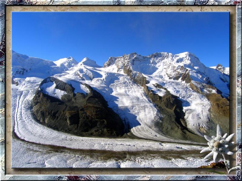 Majestic Glacier in Zermatt, Swiss Alps