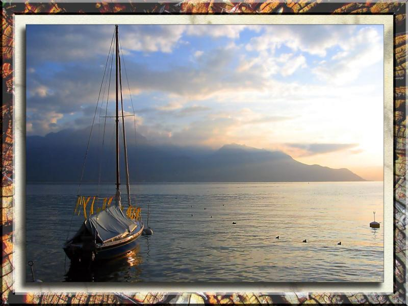 Sunrise on Lake Como, Italy