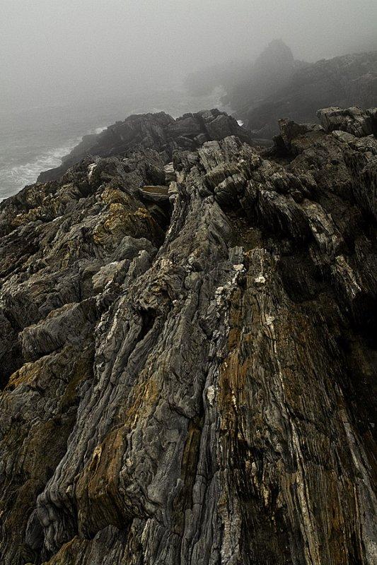Rock Ledge in Fog