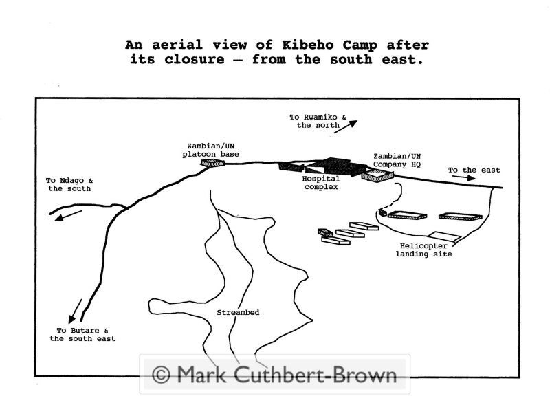 explanation of the view of Kibeho from the south