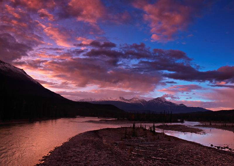 Jasper Park - Athabasca Sunset