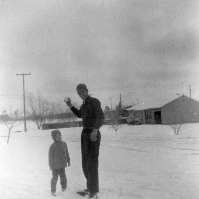 Larry and Dad in snow 1961.jpg
