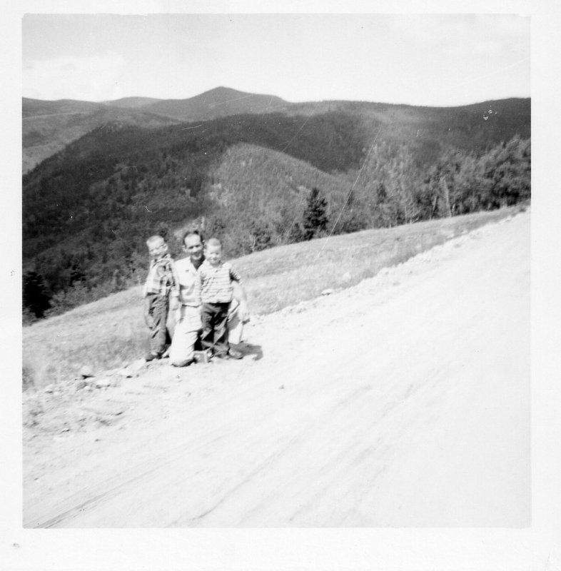 Larry Doyle and Wallace Red River N Mex June 1959.jpg