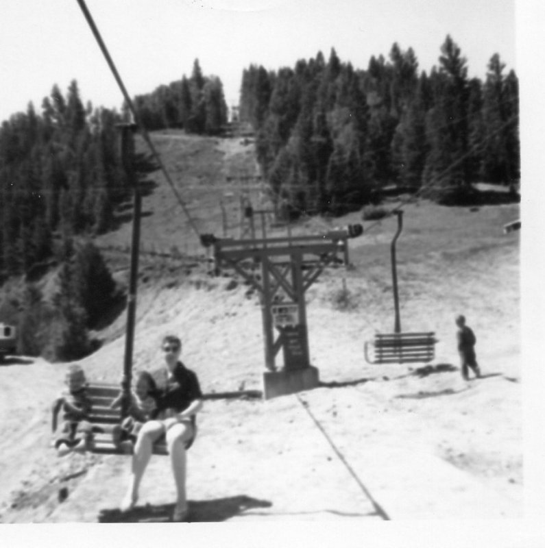 Larry Doyle and Mom Red River ski lift July 1960.jpg