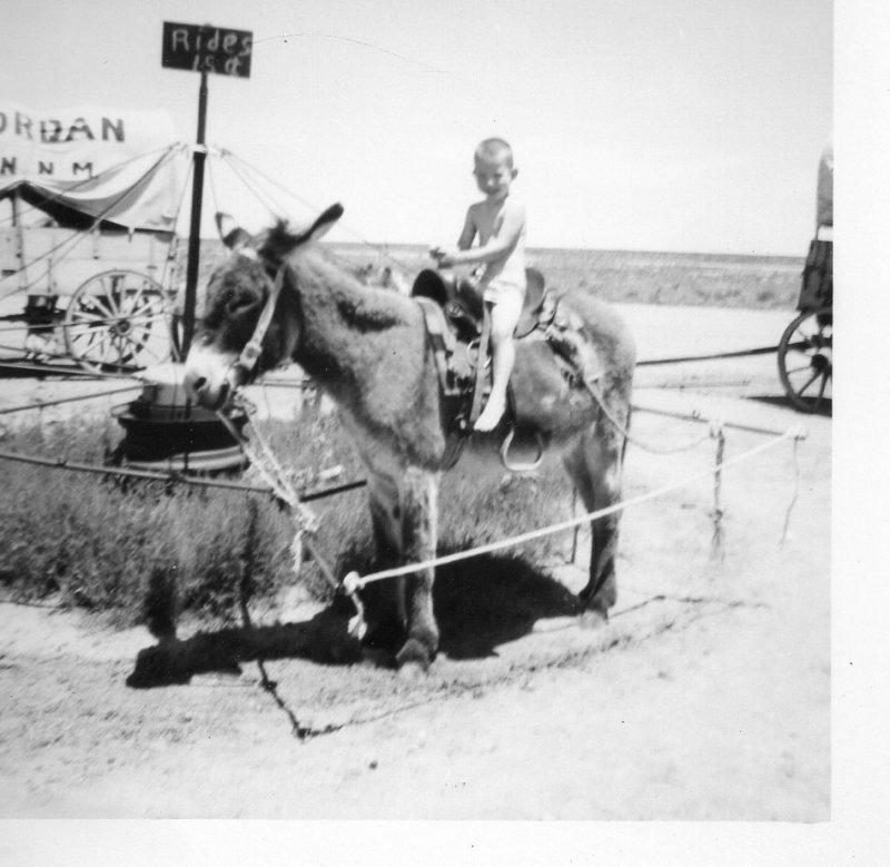 Doyle on donkey New Mexico Jun 1959.jpg