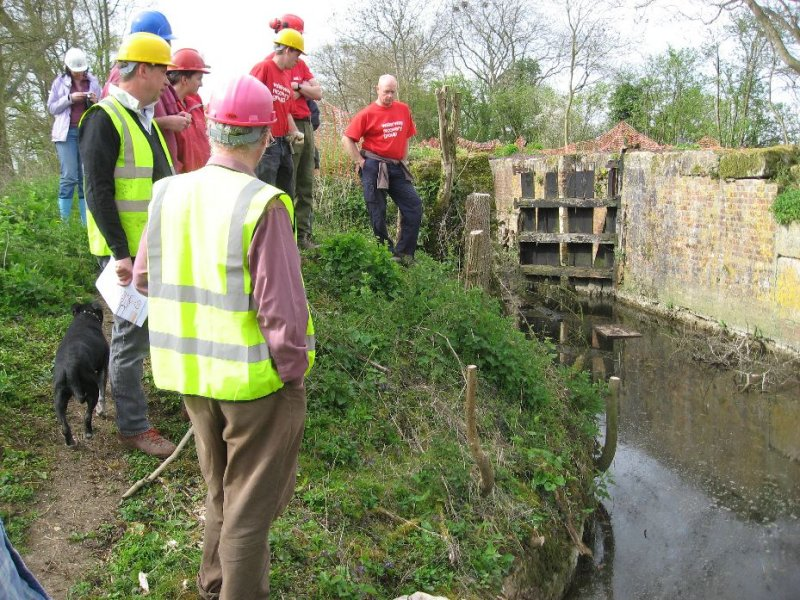 We are shown where the canal is to be dredged