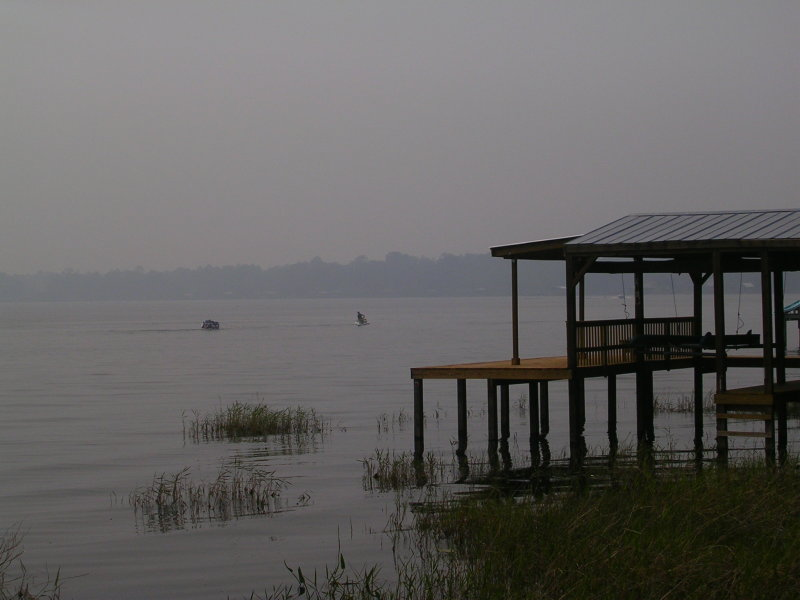 May Fires #1 - Smoke on the water from Bugaboo Fire.JPG