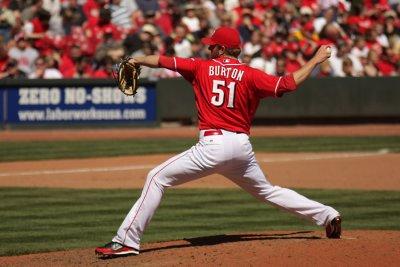 Relief pitcher Jared Burton