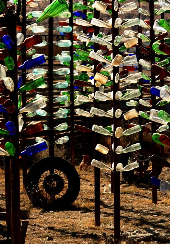 A Forest of Bottles, Oro Grande, California, 2006