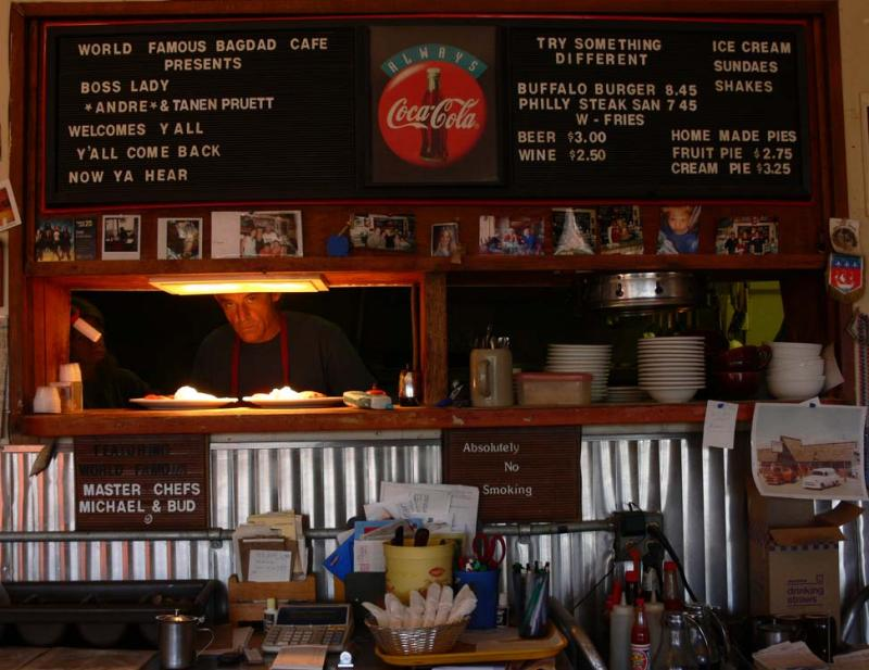 Breakfast at the Bagdad Café, Newberry Springs, California, 2006