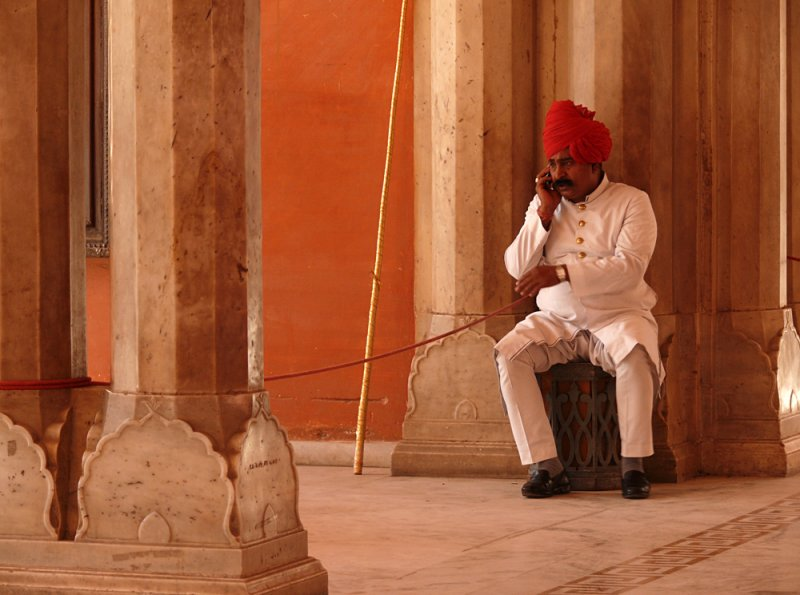 Guard, City Palace, Jaipur, India, 2008
