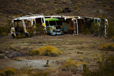 Truck graveyard, Oatman, Arizona, 2009
