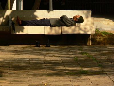 Park bench, Naha, Okinawa, Japan, 2006
