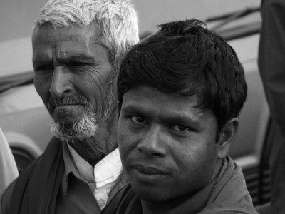 Baggage handlers, Agra, India, 2008