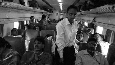 Soft seat coach, Agra-Jhansi Express, India, 2008