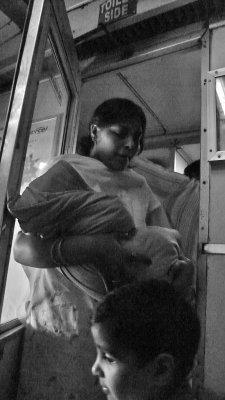 Multi-tasking, Agra-Jhansi Express, India, 2008