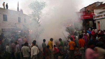 Evening of Bonfires, Jaipur, India, 2008