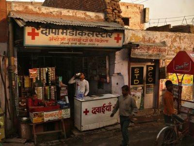 Drug store, Agra, India, 2008