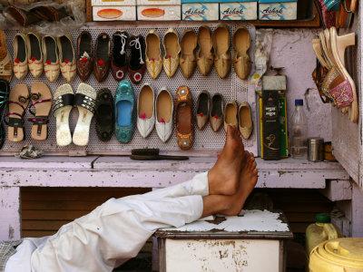 Shoe store, Agra, India, 2008
