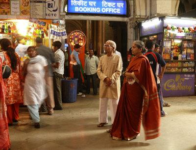 Commuters, Victoria Terminus, Mumbai, India, 2008