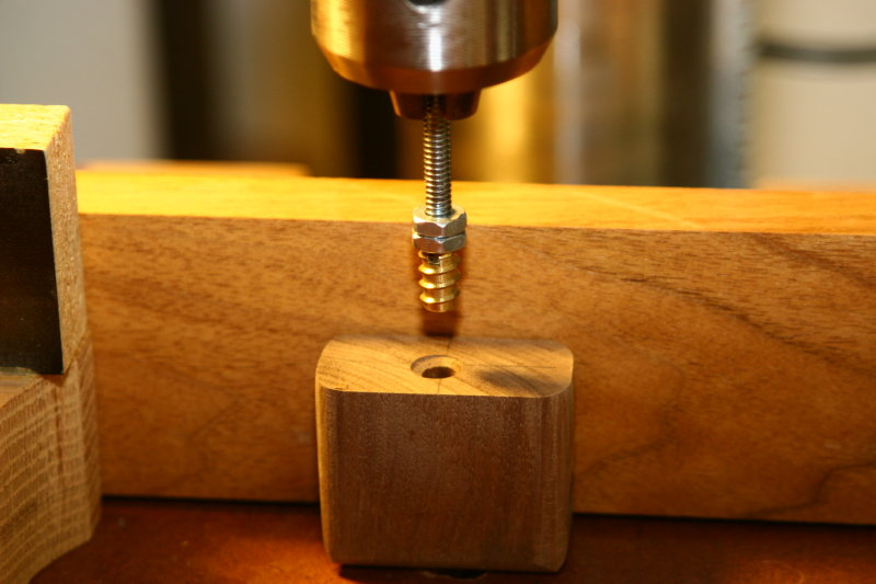Installing inserts using the drill press