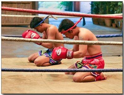 Prayers before Muay Thai