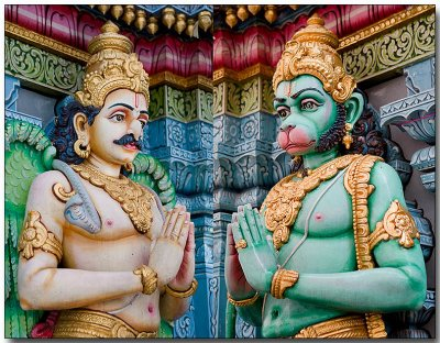 Sri Krishnan Temple - Deities at entrance