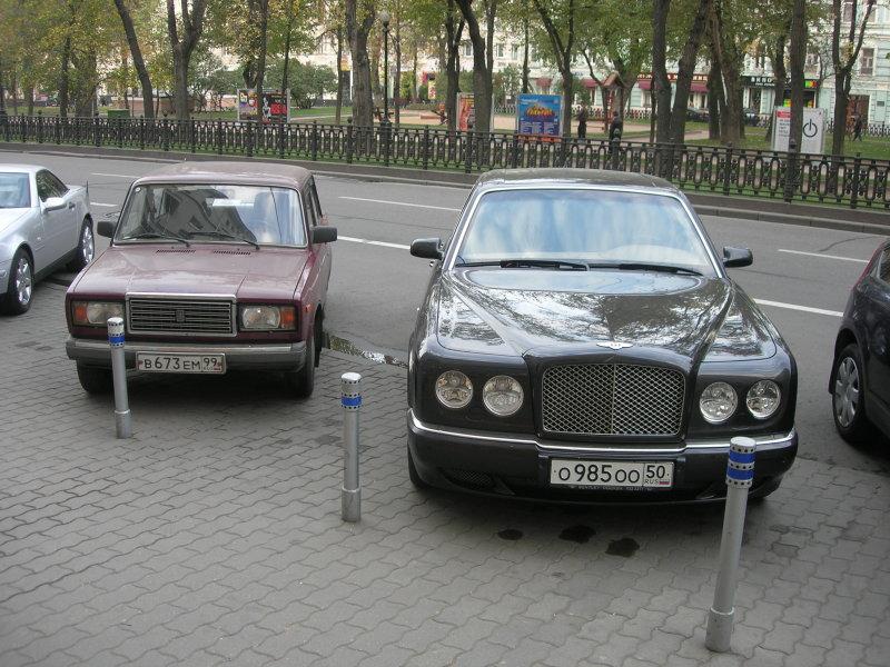 Soviet-era car vs. Rolls Royce