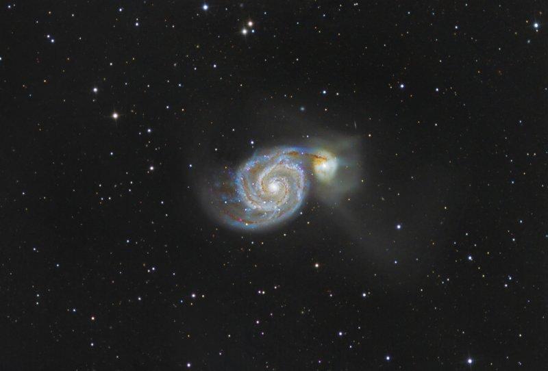Whirlpool Galaxy-  A Galactic Waltz