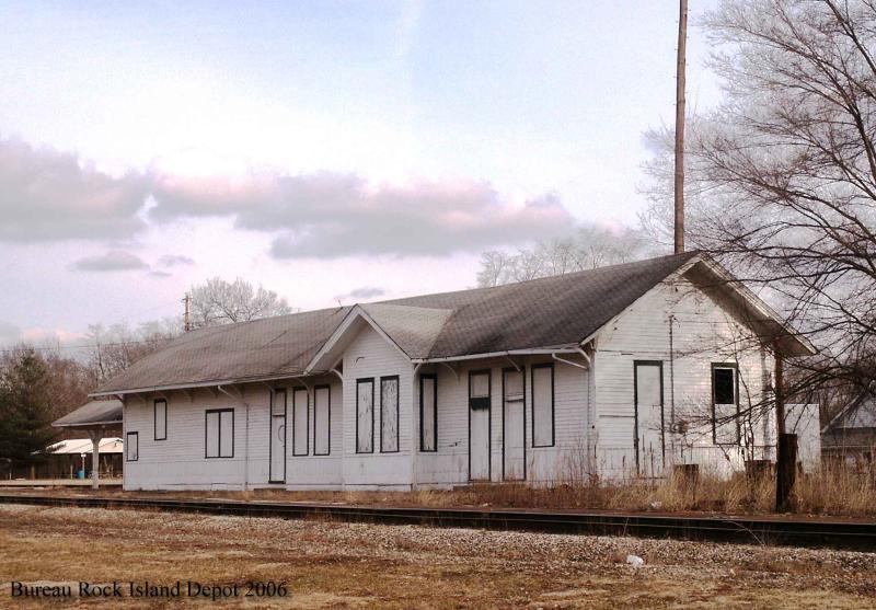 Chicago, Rock Island  & Pacific Depot, Bureau, Illinois.