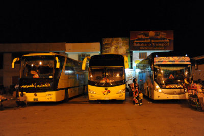 Early morning at the Port Sudan long distance bus station